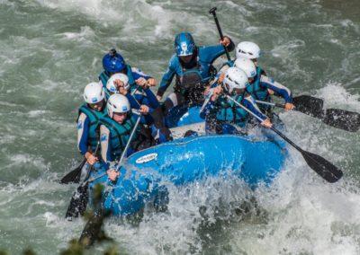 Rafting en primavera en Jaca